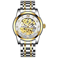 MUMUWU 腕時計 30M 生活防水 機械式 多機能 自動巻き メンズ ウォッチ 男女兼用 人気 オシャレ 多色入 時計 メンズ (Color : 01ホワイト, Size : フリー)