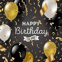 LFEEY ハッピーバースデー 背景幕 誕生日パーティー 装飾 写真 背景 ビニールバナー 小道具