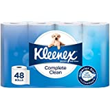Kleenex Complete Clean Toilet Paper Tissue, Bath Toilet Tissue (Pack of 48)