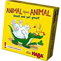 HABA Animal upon Animal: Small and yet great! Pocket Sized Wooden Stacking Game (Made in Germany) [並行輸入品]