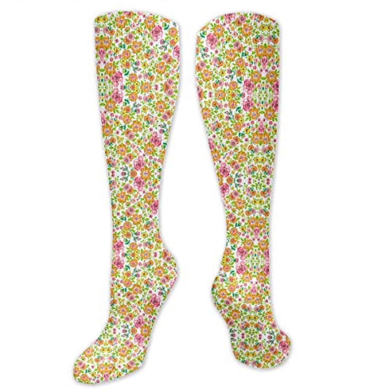 マーク比類なき靴下,ストッキング,野生のジョーカー,実際,秋の本質,冬必須,サマーウェア&RBXAA Ditsy Flowers Floral Pink Orange Socks Women's Winter Cotton Long...
