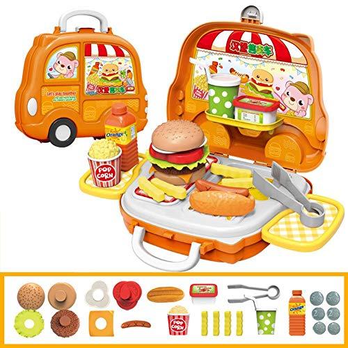 Ruier-tong 子供 ままごと ごっこ遊びおもちゃ キッチン クッキング おもちゃ ハンバーガ...