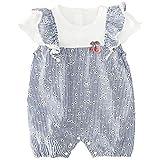 Baby nest ベビー服 夏 フォーマル ロンパース 半袖 新生児服 カバーオール 女の子 通園 通学 結婚式 重ね着 ブルー 90 18-24ヶ月