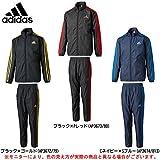 adidas(アディダス) Boys エッセンシャルズ ジャケット パンツ 上下セット 【ジュニア】 (BIK72/BIK73) (150, BLK×GOLD(AP3672/AP3679))