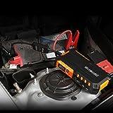 suaoki G7 18000mAh大容量 ジャンプスターター モバイルバッテリー 12V車 出力12 16 19V スマートブースターケーブル搭載 ノートPC スマホへの充電 LEDライト付 12ヶ月保証 オレンジ
