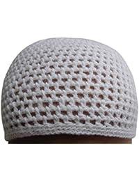ウールKufi Koofi Kofi帽子TopiエジプトスカルキャップビーニーメンズIslamicイスラム教徒307 One Size