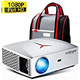 "VIVIBRIGHT f40 Native 1080P Projector, 4200White LED Light 300"" Display Full HD Home Theater Projector, HiFi Class Speaker with SPDIF, Compatible with TV Stick, PS4, Xbox, HDMI, SPDIF, USB, AV"
