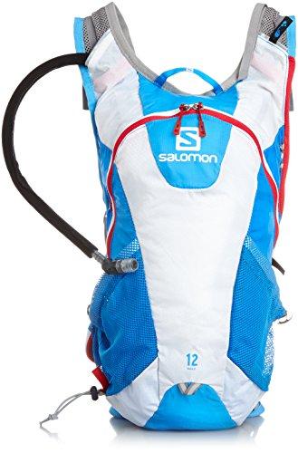 e7a3f45647c1 [サロモン] ランニングハイドレーションバッグ AGILE 12 SET METHYL BLUE/White/LOTUS PINK  タテ44cmxヨコ20cmxマチ15cm ポケットの数:5(外側4/内側1) 重量:460g ...