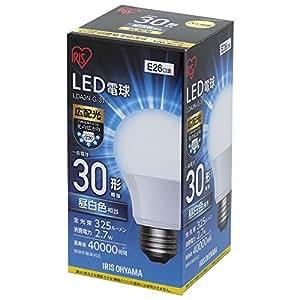 アイリスオーヤマ LED電球 口金直径26mm 30W形相当 昼白色 広配光タイプ 密閉器具対応 LDA3N-G-3T4