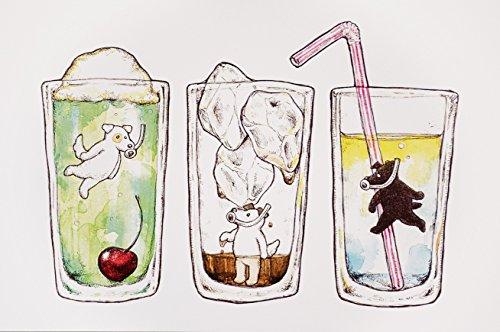 おたより本舗 ポストカード「グラスの中の三兄弟」 by クグリド A029_10 10枚
