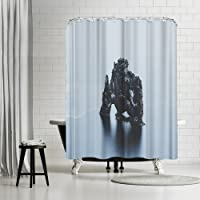 "Americanflat Hvitserkur Iceland Shower Curtain by Luke Gram, 74"" H x 71"" W x 0.1"" D [並行輸入品]"