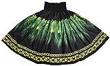 DFギャラリー パウスカート フラダンス衣装 シングル リーフ モンステラ JB79121 70cm丈 ブラック