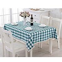 テーブルクロス ヨーロッパの格子の布の長方形のテーブルのコーヒーテーブルクロスリビングルームレストランのテーブルクロス ( 色 : 緑 , サイズ さいず : 140*180cm )