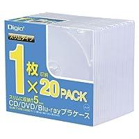 ナカバヤシ CDプラケ-ススリム20パック CD-084-20 00025125【まとめ買い3個セット】