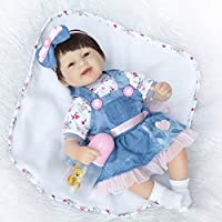 17インチ42 cm Look本物そっくりLovely、リアルなハンドメイド幼児用Rebornベビーガール人形ソフトビニール人形シリコン新生児磁気口