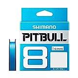 シマノ(SHIMANO) PEライン ピットブル 8本編み 200m 0.6号 スーパーブルー 14.5lb PL-M68R