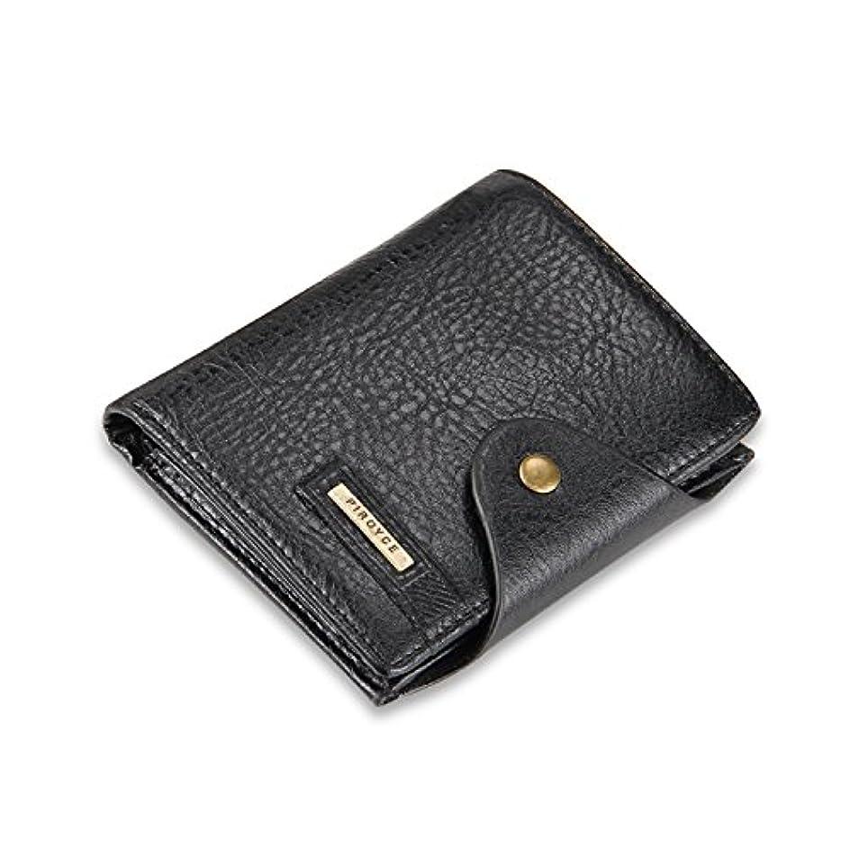 どんよりした武装解除スチールFANDARE 三つ折り 財布 メンズ がま口 コンパクト レディース ビジネス 人気 小銭入れ ミニウォレット 小さい wallet PUレザー