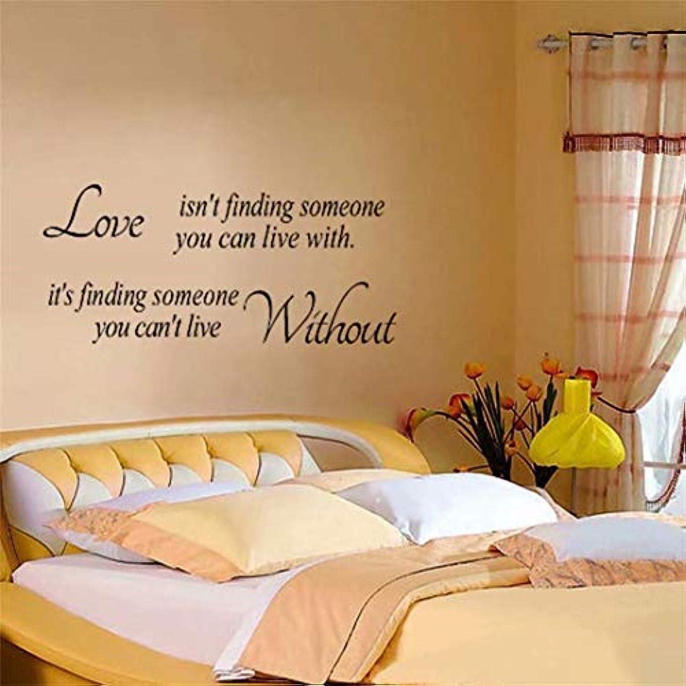 流行している海外本物七里の香 Love Isn't Finding Someone You Can Live With ウォールステッカー 防水 除去でき 壁飾り 壁紙 ベッドルーム リビングルームの背景