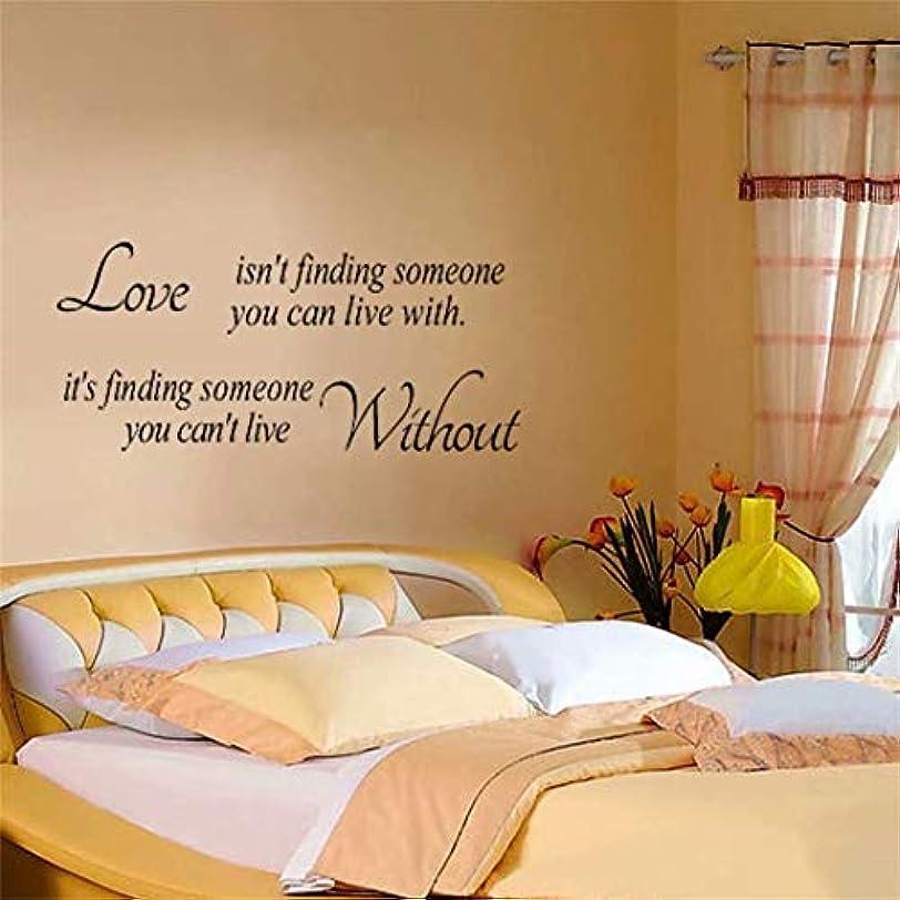 七里の香 Love Isn't Finding Someone You Can Live With ウォールステッカー 防水 除去でき 壁飾り 壁紙 ベッドルーム リビングルームの背景