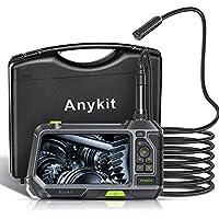 Anykit 内視鏡カメラ ファイバースコープ オート フォーカススネークカメラ 5inch IPS ディスプレー内視鏡…