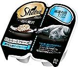シーバ (Sheba) キャットフード 一皿の贅沢 とろっとフレーク 厳選お魚ミックス(ツナ・白身魚) 75g(37.5g×2個入)×6個(まとめ買い)