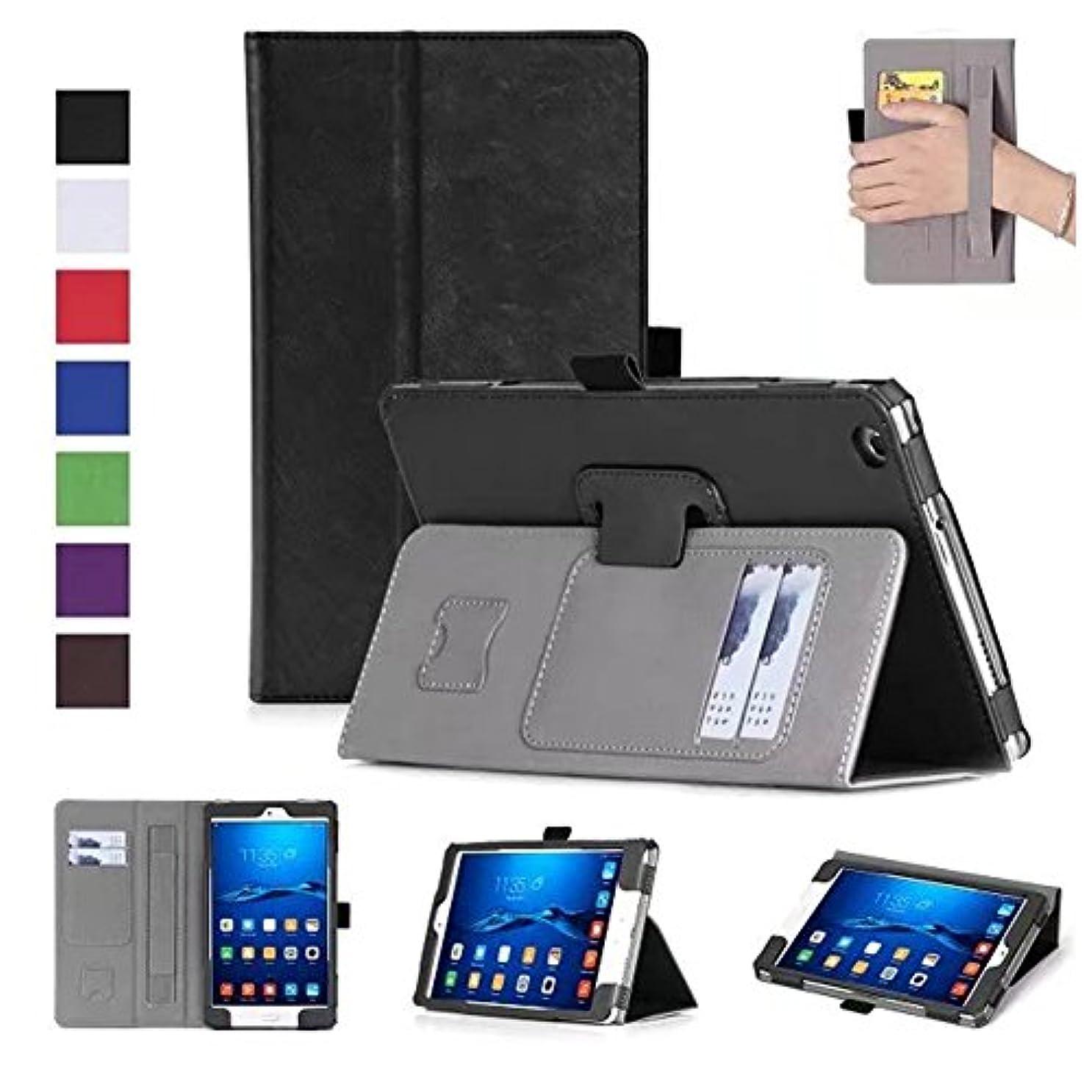 うぬぼれた著名なドラゴンMaxku MediaPad M3 Lite s ケース高級PUレザーケース カバー 手帳型 軽量 全面保護型 スタンド機能付き メディアパッド エムスリー ライト エス スマート カバー (ブラック)