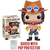 Funko Pop! Anime: One Piece - Portgas D. Ace Vinyl Figure (Bundled with Pop Box Protector CASE)