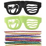 Aomeiqi ファッショな 面白い DIYメガネ 眼鏡 パーティー 誕生日会 ユニセックス コスプレ 仮装メガネおもちゃ(2色セット)