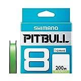 シマノ(SHIMANO) PEライン ピットブル 8本編み 200m 1.0号 ライムグリーン 22.4lb PL-M68R