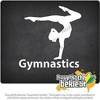 体操 Gymnastics 11cm x 9cm 15色 - ネオン+クロム! ステッカービニールオートバイ
