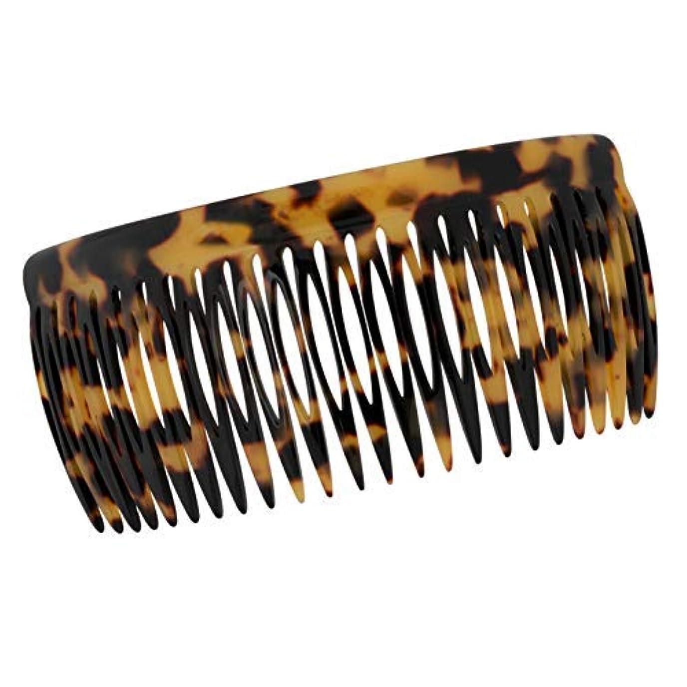ホーンタール統計Charles J. Wahba Long Classic Long Side Comb - 24 Teeth - Handmade in France (Tokyo Tortoise Color) [並行輸入品]