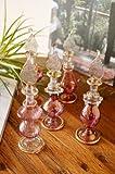 エスニック 雑貨 インテリア ♪エジプト香水瓶 アソート(ピンクパープル系)♪ アラビアンデザイン 香水ボトル パフュームボトル 置物 オブジェ ガラス