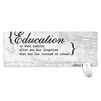 教育についてのインスピレーションを与える引用 ノンスリップゴムパッドのゲームマウスパッドプレゼント