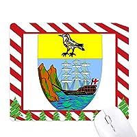 聖ヘレナアフリカ国家エンブレム ゴムクリスマスキャンディマウスパッド