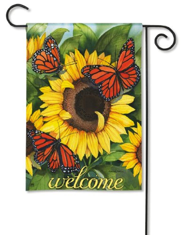 Magnet Works MAIL36525 Sunny Monarchy Garden Flag
