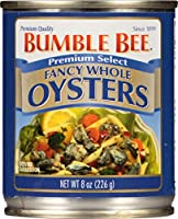 Bumble Bee, Premium Select, Fancy Whole Oysters, 8oz Can (Pack of 6) by Bumblebee