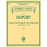 TWENTY-ONE ETUDES FOR THE VIOLONCELLO BOOKS 1 & 2: Schirmer Library of Classics Volume 2095