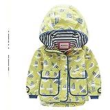 男の子と女の子のコート Meanbear 赤ちゃん 春のドレス 秋と冬 ガールフラワー 小さな鳥 アウトドア フード付き ウインドブレーカー ジャケット