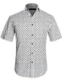 APTRO(アプトロ) 半袖シャツ メンズ 花柄 プリント 和柄 夏 フローラル ファンション ハワイ ラペル アロハシャツ