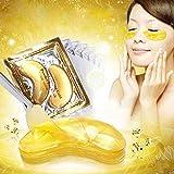 美容アクセサリー 10パックゴールドクリスタルコラーゲンアイマスクアイパッチアイマスク用フェイスケアダークサークル取り外しジェルマスク用アイエイジ 写真美容アクセサリー