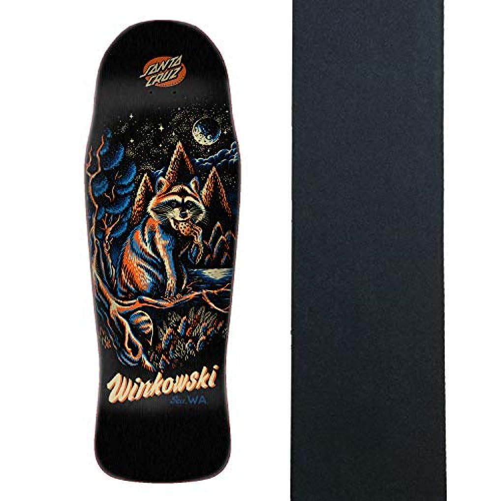 ラブマニア食用Santa Cruz スケートボードデッキ Winkowski ゴミ箱 パンダ Pre Issue 10.34インチ x 30.54 + グリップ