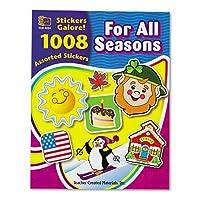先生作成されたリソース:ステッカーBook , for all seasons ,アソートColors , 1008ステッカーperパック–1として販売: - PK