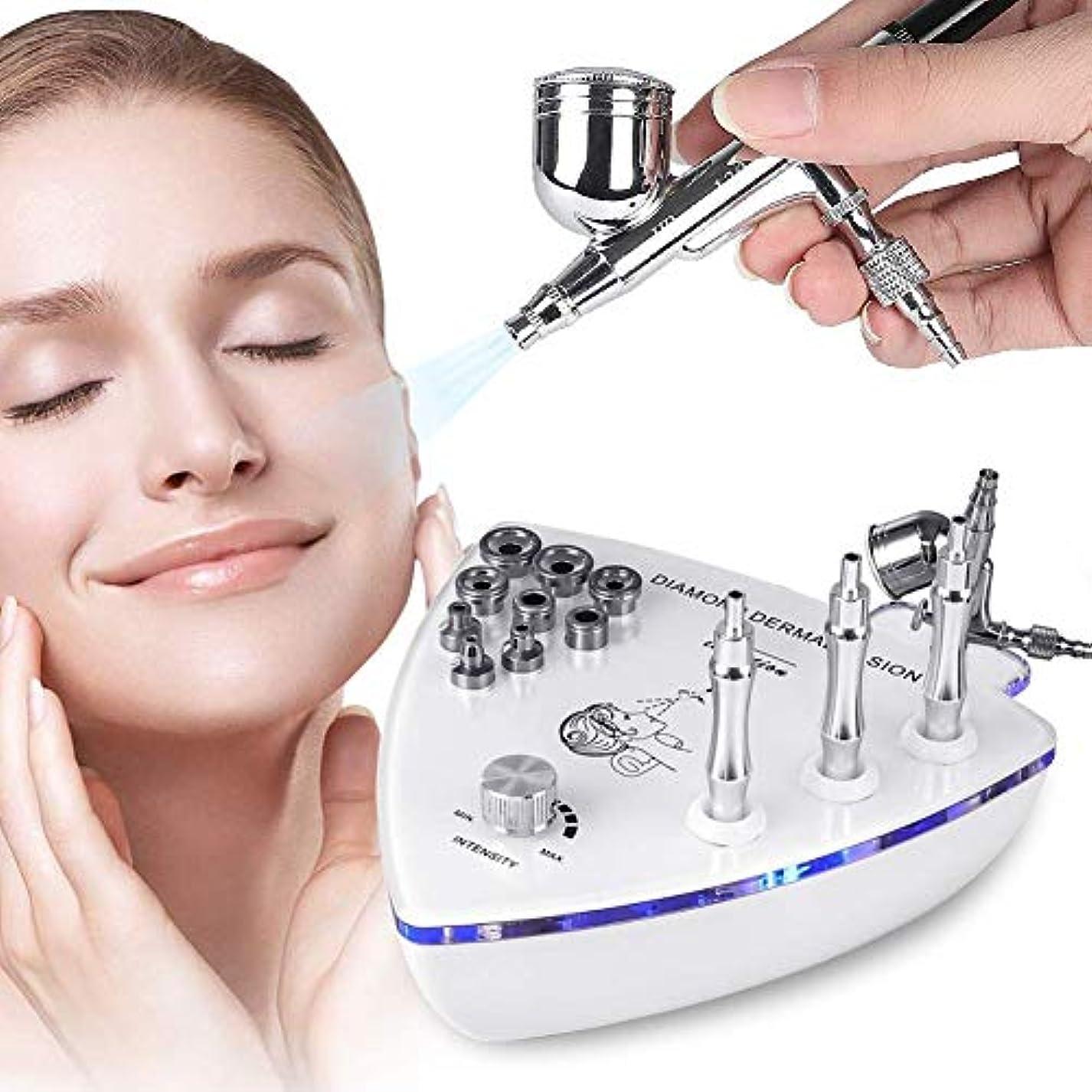 敬意裁定アロングスプレーガン皮膚剥離除去顔の皮膚剥離装置、Professionalホームの使用をスプレーフェイシャル?美容サロン機器とダイヤモンドマイクロダーマブレーション皮膚剥離機、