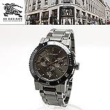 【正規輸入品・2年保証】 バーバリー BURBERRY 男性用 腕時計 BU9381 CITY シティ クロノグラフ 42mm ダークグレー チェック柄 ガンメタル メンズウォッチ カレンダー [並行