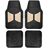 FH Group F11313BEIGE Rubber (Beige Full Set Trim to Fit Floor Mats)