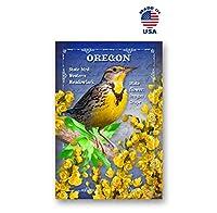 OREGON BIRD AND FLOWER ポストカード 20枚セット 同一のポストカード OR state symbols ポストカード アメリカ製。