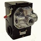 Ahead Ism エアー コンプレッサー 圧力 スイッチ サイドスイッチ型 0.8Mpa ポートが選べる 補修 修理 交換 (4ポート)