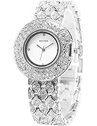 [エーエムピーエム24]AMPM24 ホワイト ダイアル キラキラ クリスタル シルバー ウィメンズ ブレスレット クォーツ ドレス 腕時計 WQI006