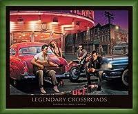ポスター クリス コンサニ Legendary Crossroads 額装品 ウッドベーシックフレーム(グリーン)