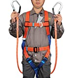 CompuClever フルハーネス 安全帯 ツインランヤード 墜落制止用器具の規格適合品 [落下防止 電気工事 高所安全作業用]